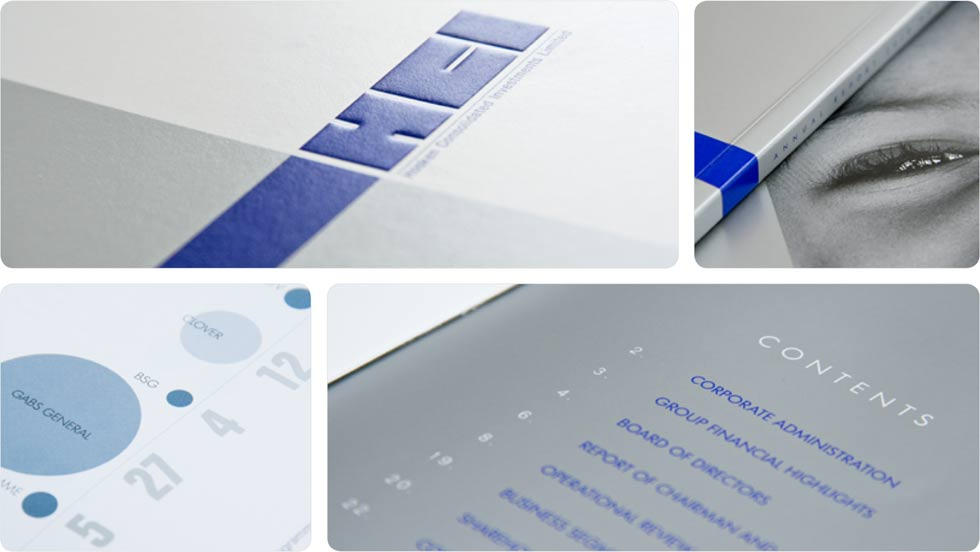 HCI print design, annual report 2010