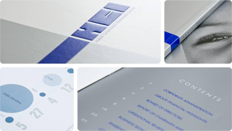 HCI print design, annual report 2010