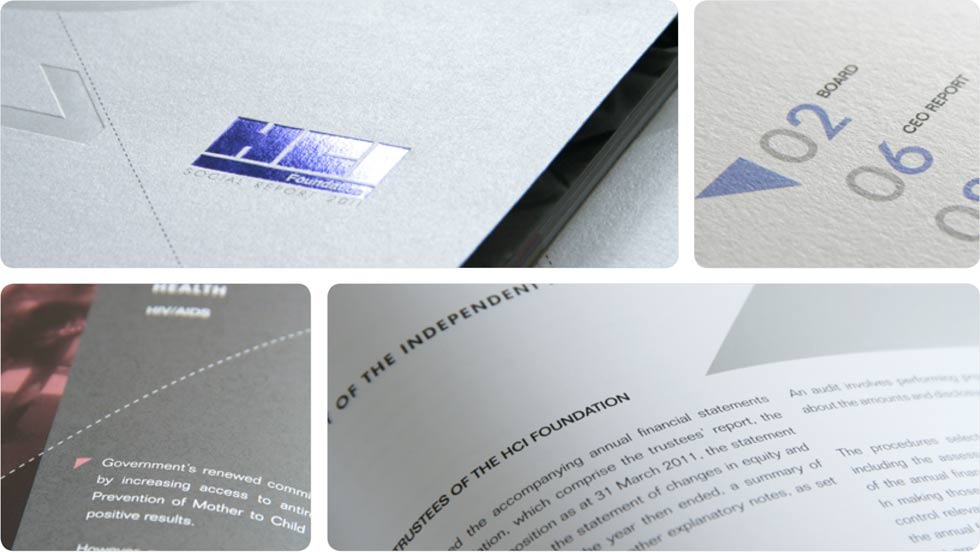 HCI print design, annual report 2011