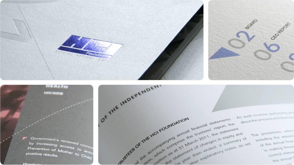 HCI print design, annual report 2011